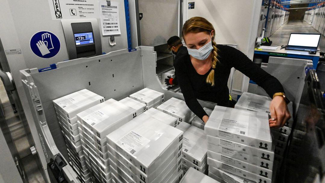 Produktion des Biontech/Pfizer Vakzins