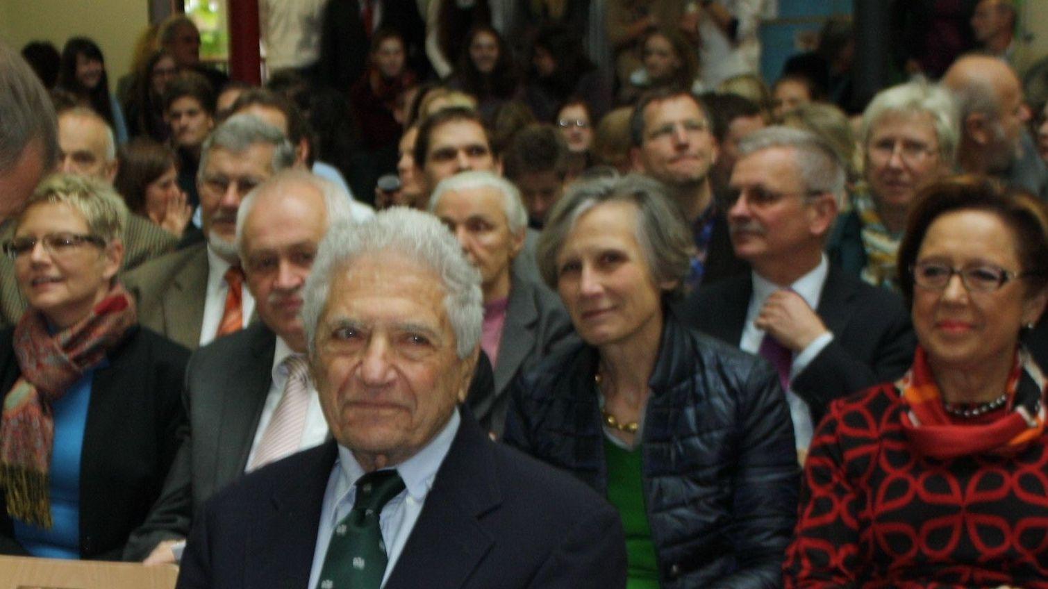 Physik-Nobelpreisträger Jack Steinberger bei einem Besuch in seiner Heimatstadt Bad Kissingen im Jahr 2013
