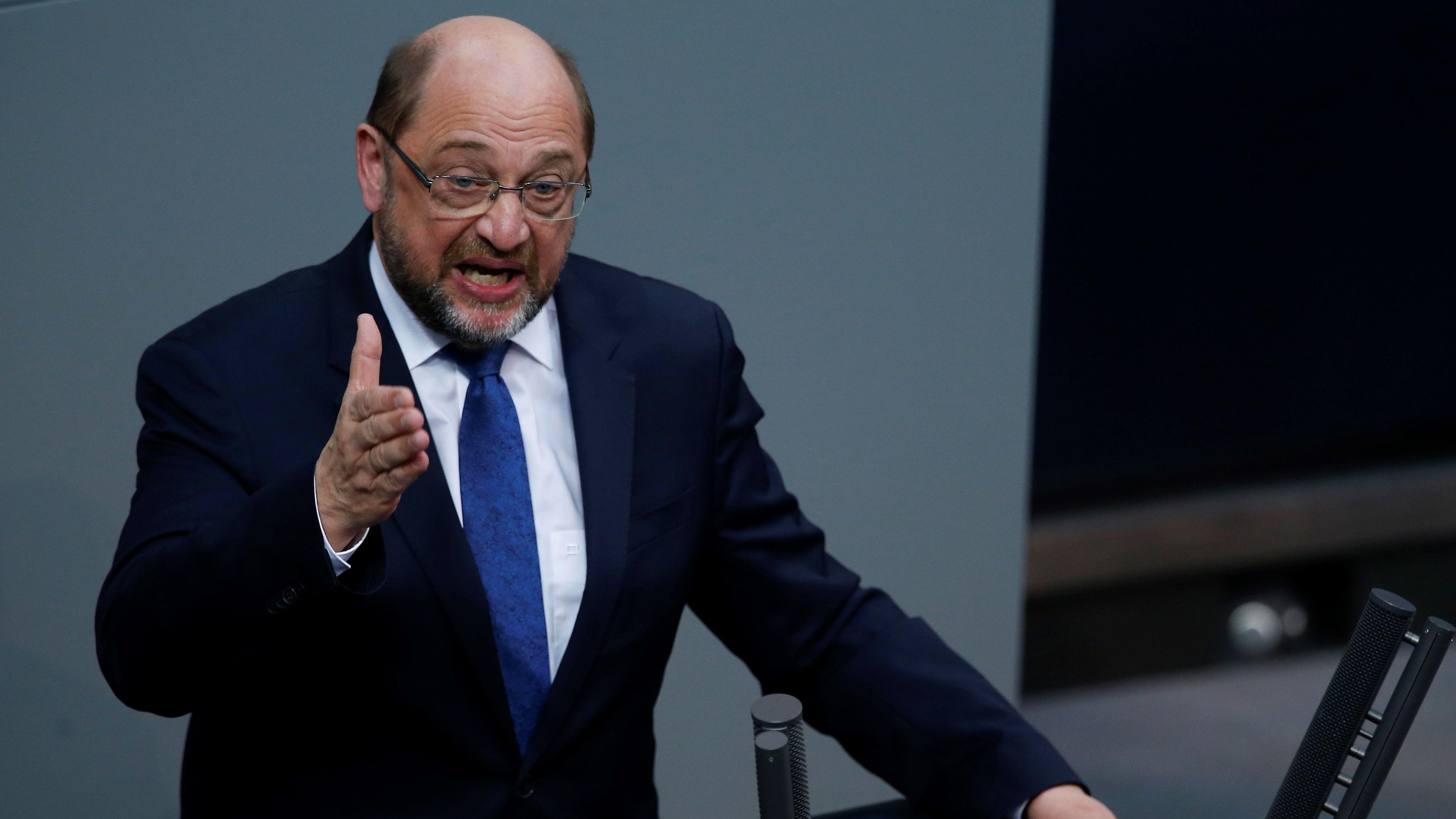 Martin Schulz bei einer Rede im Deutschen Bundestag