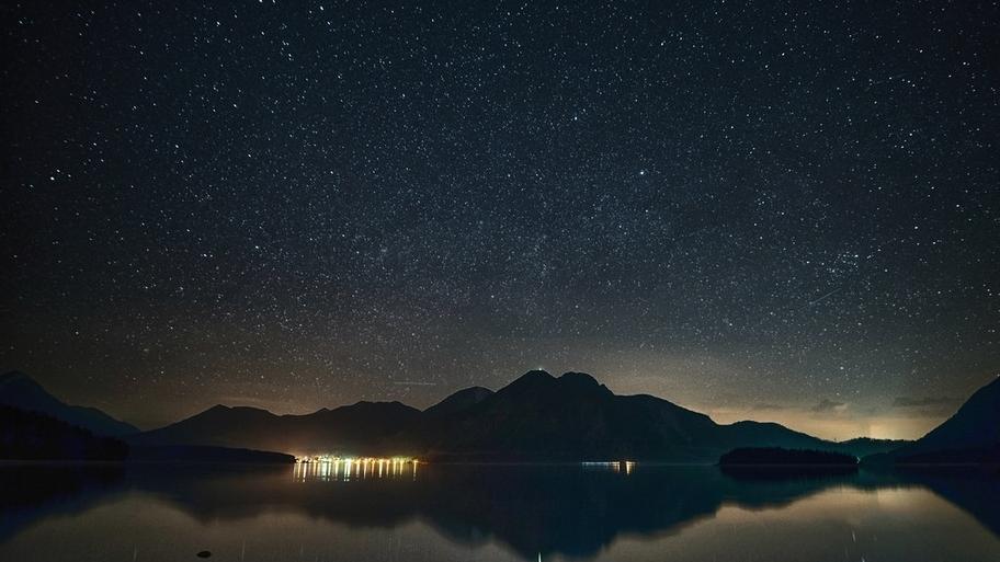 Sternenhimmel über dem Walchensee