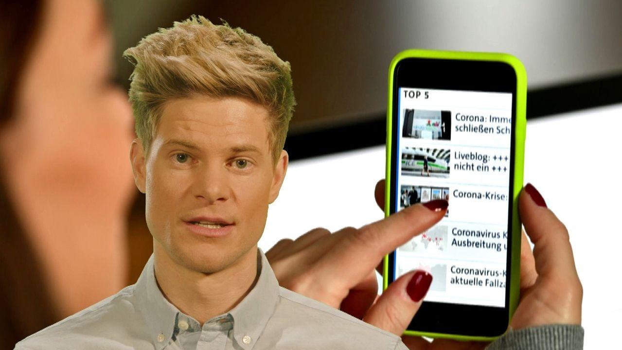 Philip Häusser und Smartphone