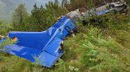 Polizei veröffentlicht erstes Foto des bei Schneizlreuth im Berchtesgadener Land abgestürzten Kleinflugzeugs. | Bild:Polizeipräsidium Oberbayern Süd