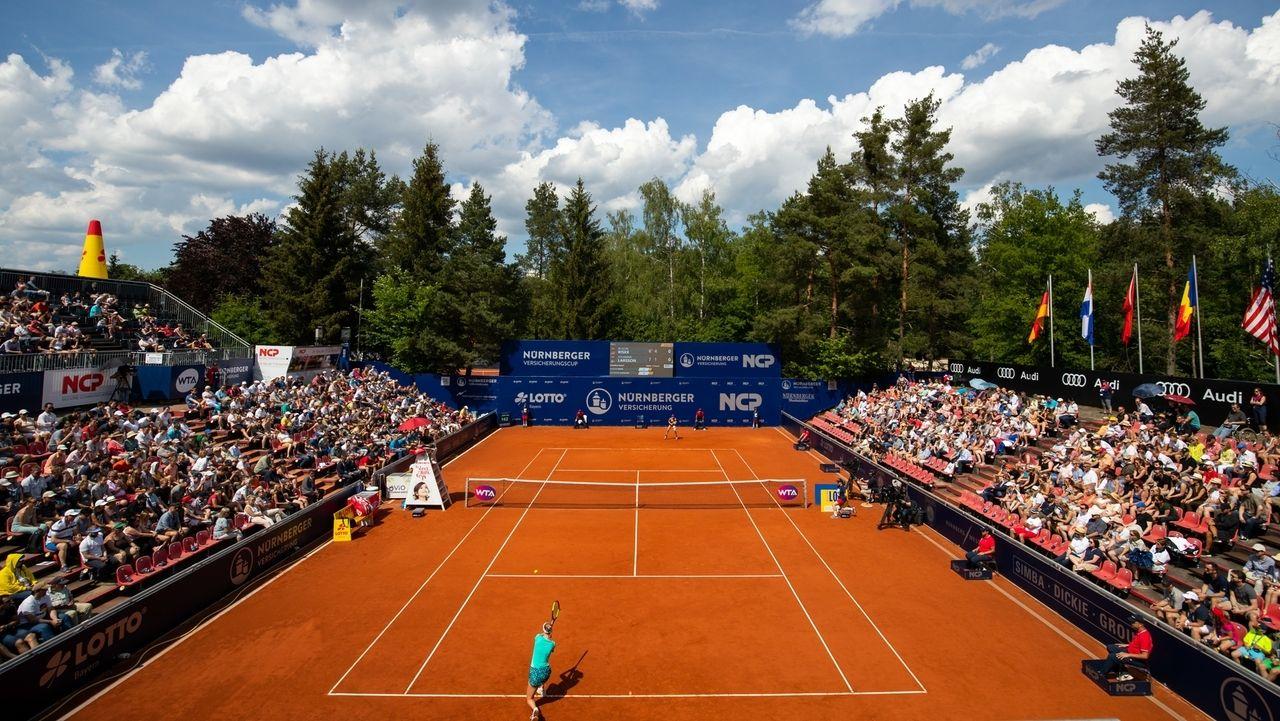 Szene während des Nürnberger Tennisturniers