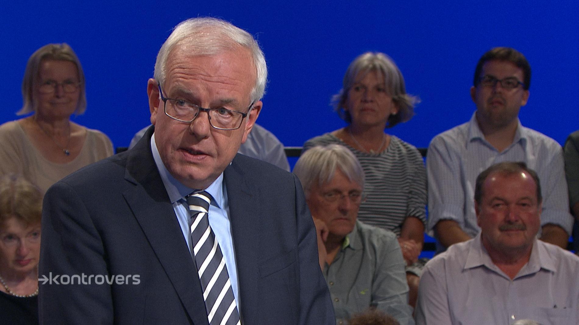 Thomas Kreuzer in der Kontrovers-Wahlarena am 12. September im BR Fernsehen