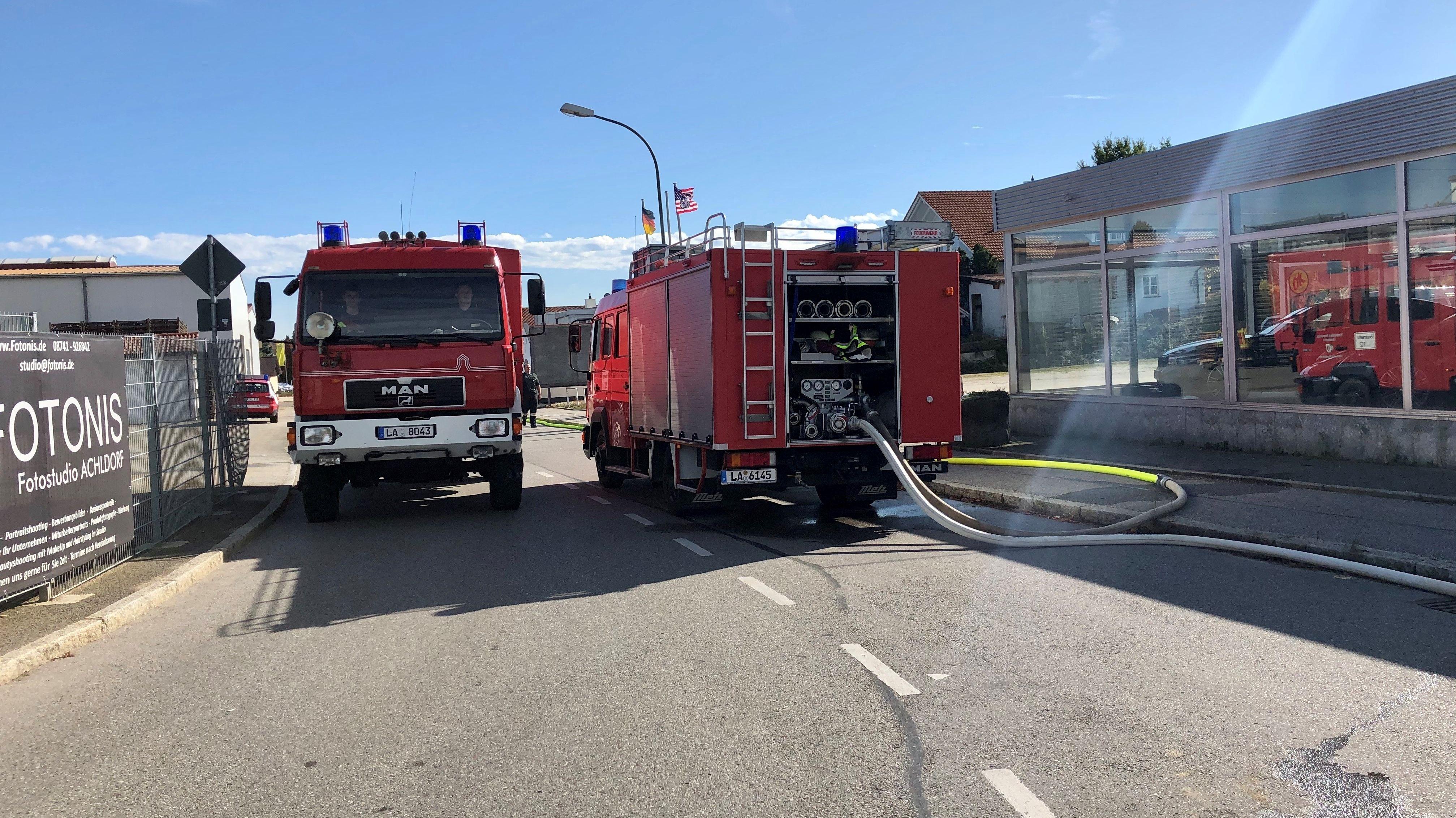 Großer Feuerwehreinsatz in Vilsbiburg
