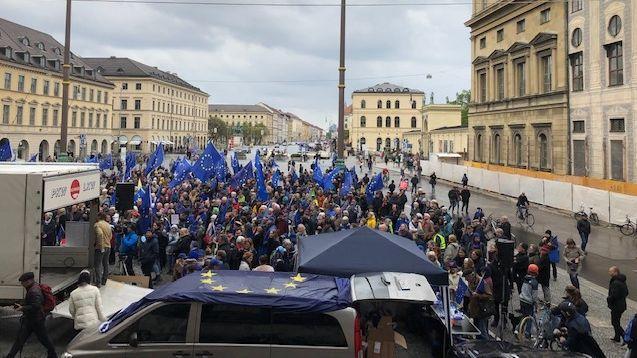 Europawahl/Kundgebung in München