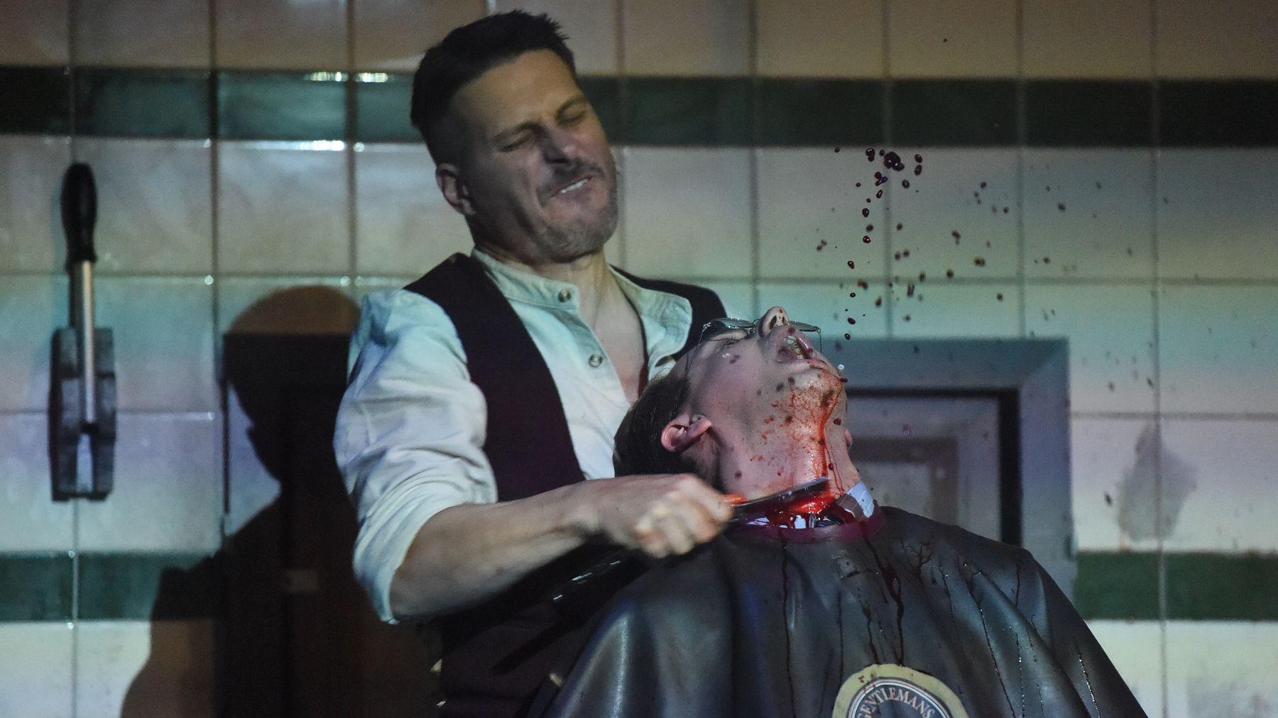 In der Fleet Street wird rasiert