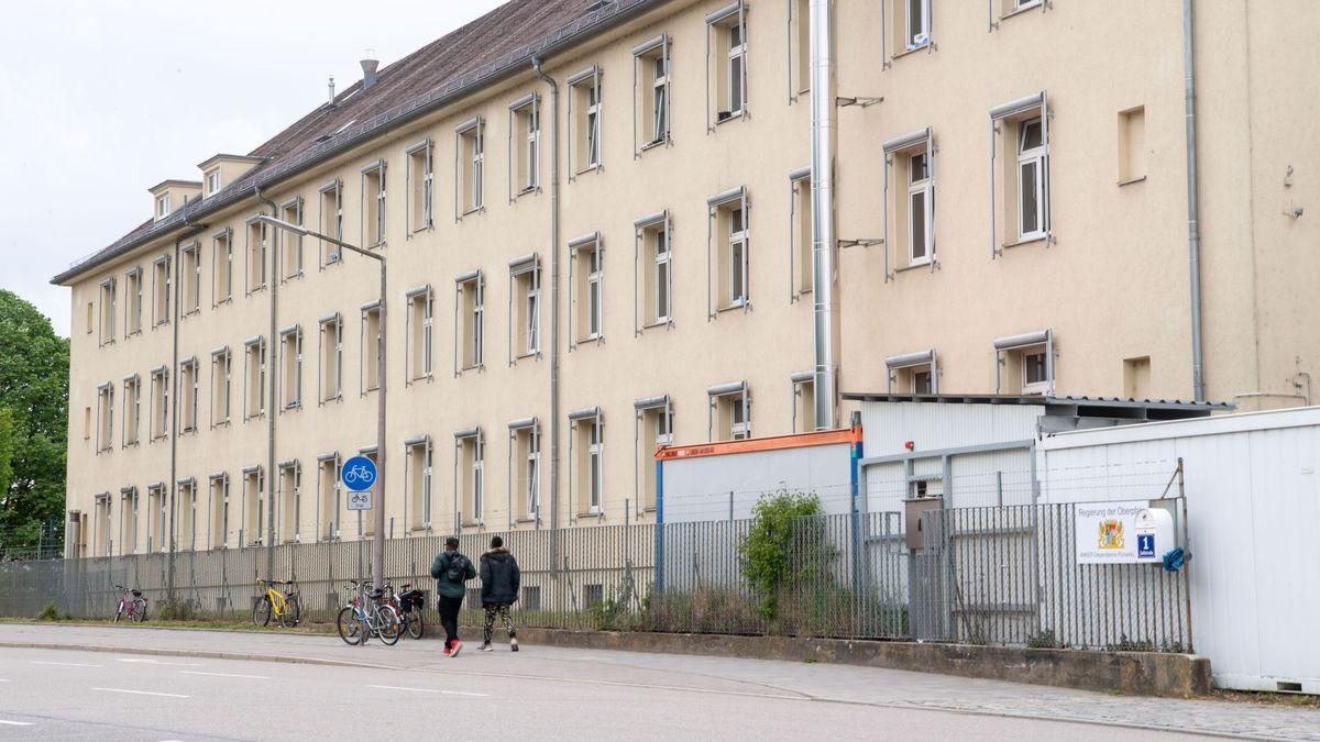 Das Ankerzentrum Zeißstraße in Regensburg.