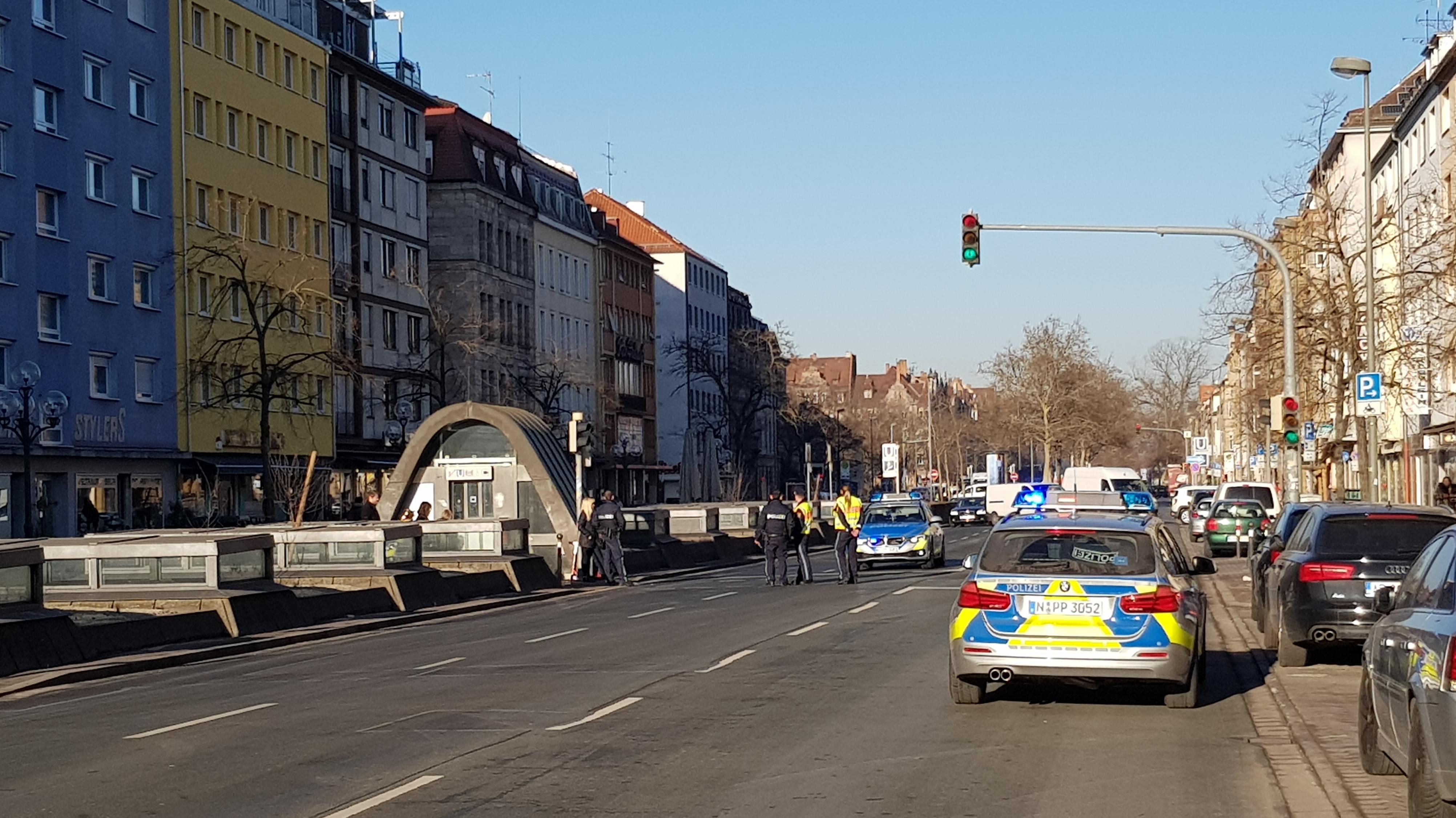 Unfall auf der Fürther Straße
