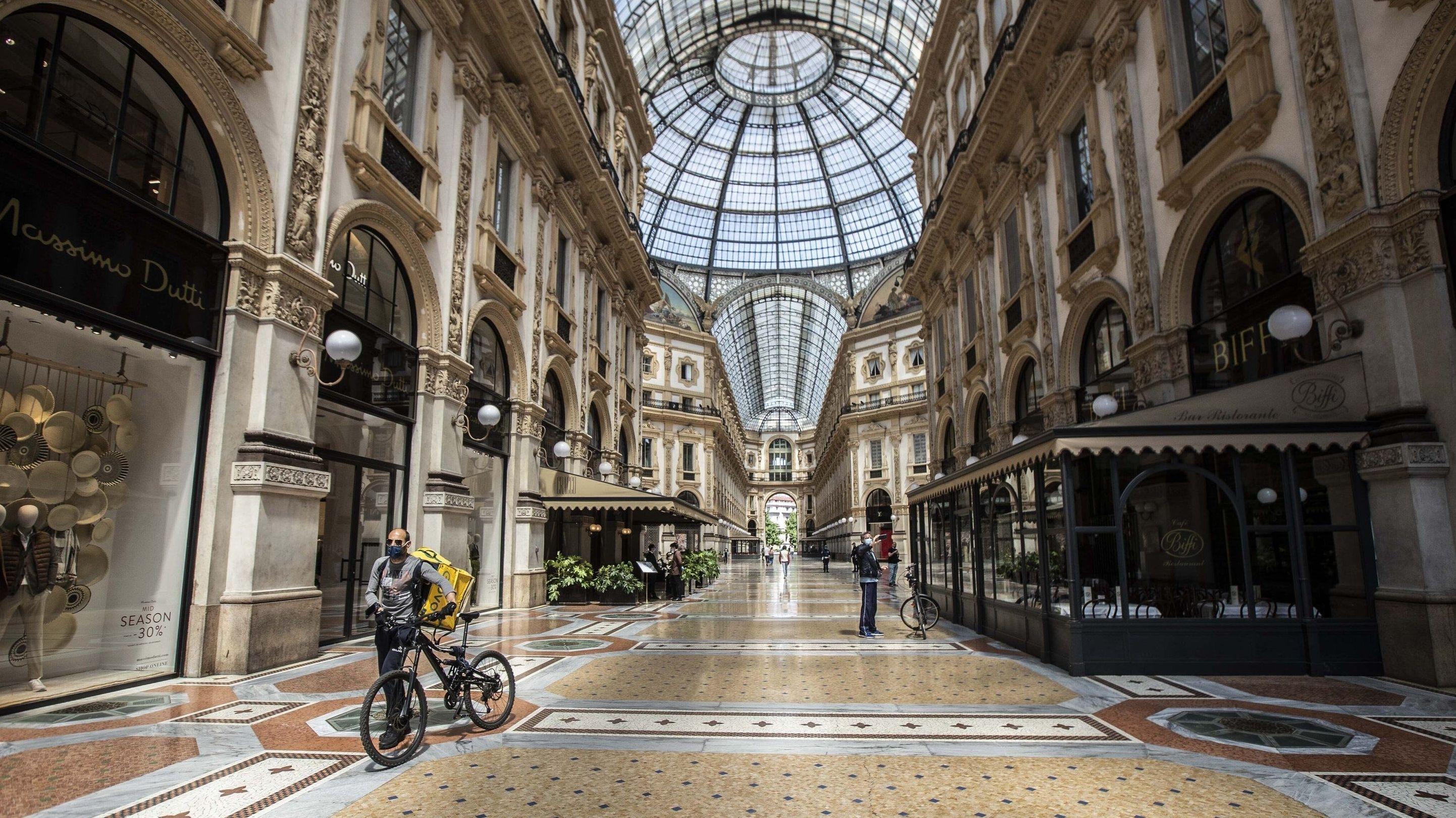 Symbolbild: Alles war zu - wie hier in der Galleria Vittorio Emanuele II. in Mailand-