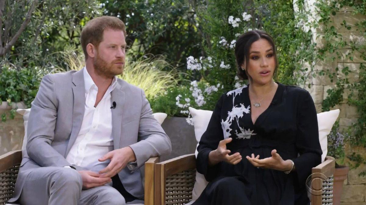 Prinz Harry von Großbritannien und seine Ehefrau Herzogin Meghan im Interview mit US-Moderatorin Oprah Winfrey (16.2.21)