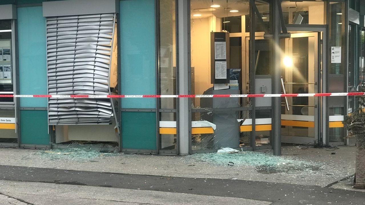 Sprengung eines Geldautomaten in Augsburg
