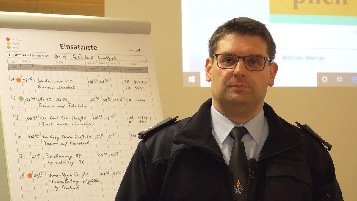 Michael Werner, Kommandant der Freiwilligen Feuerwehr Schnaittenbach
