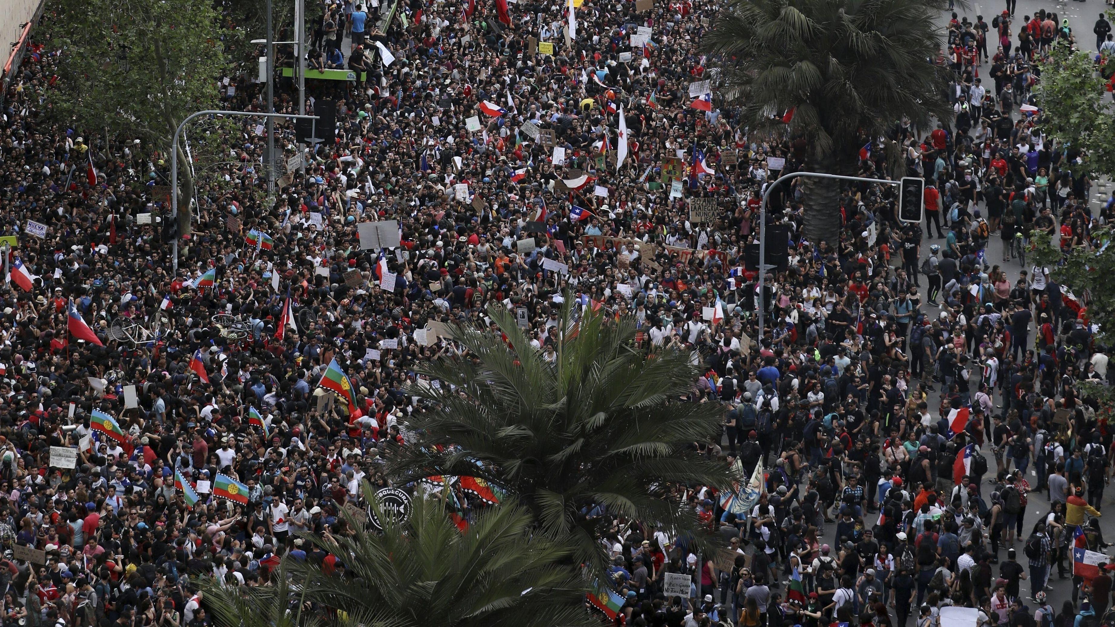 """""""Millionenprotest"""" in Chile"""