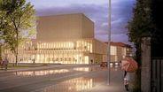 Geplanter Theaterneubau in Landshut: Große Pläne, wenig Geld | Bild:bächlemeid architekten