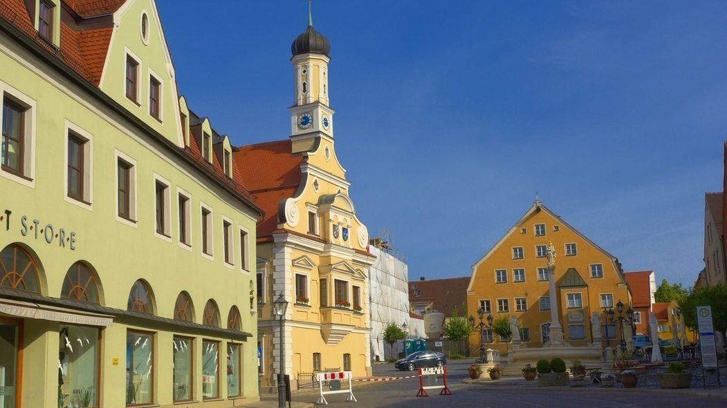 Blick auf das Friedberger Rathaus