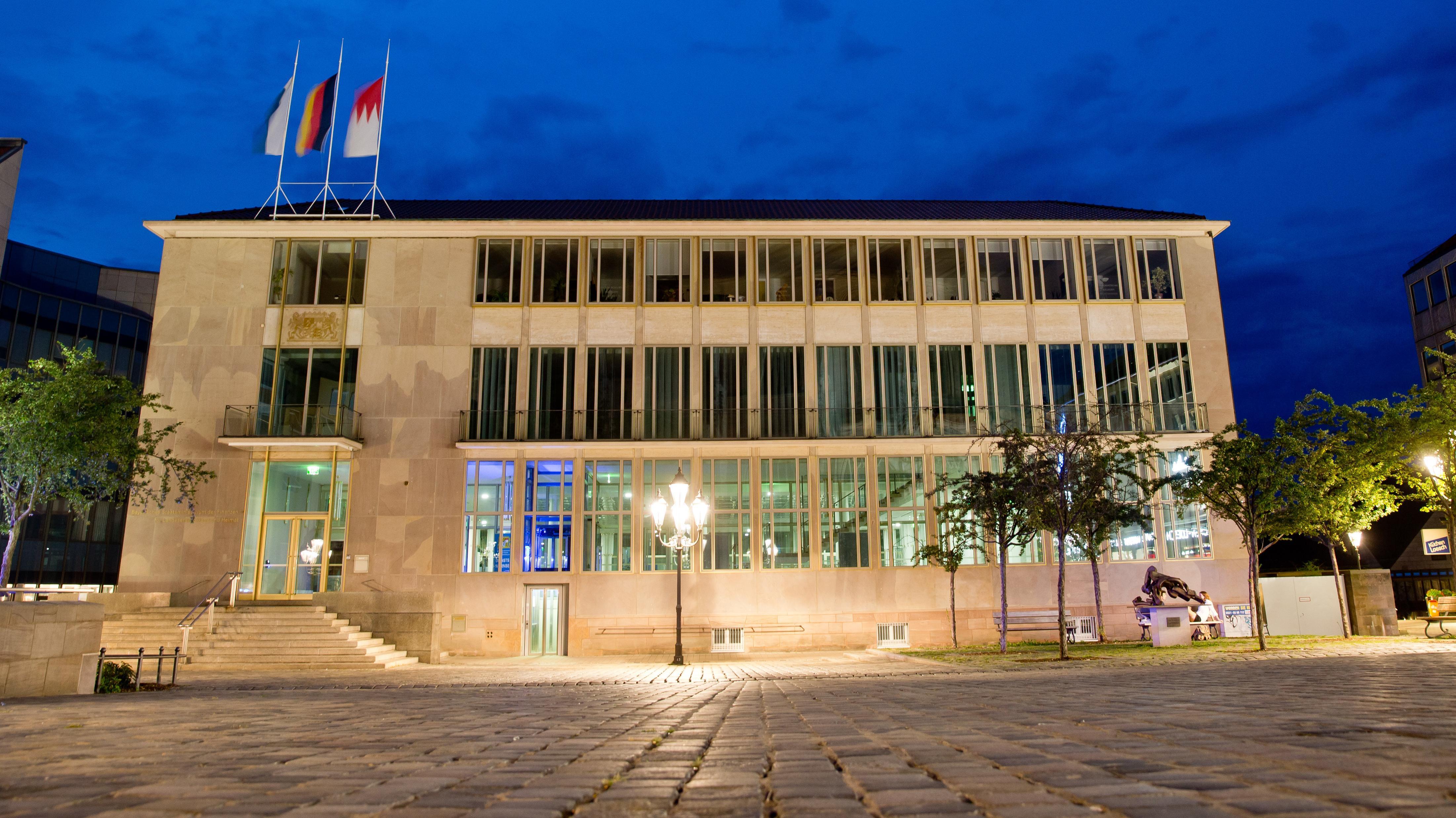 Das Gebäude des Heimatministeriums in Nürnberg