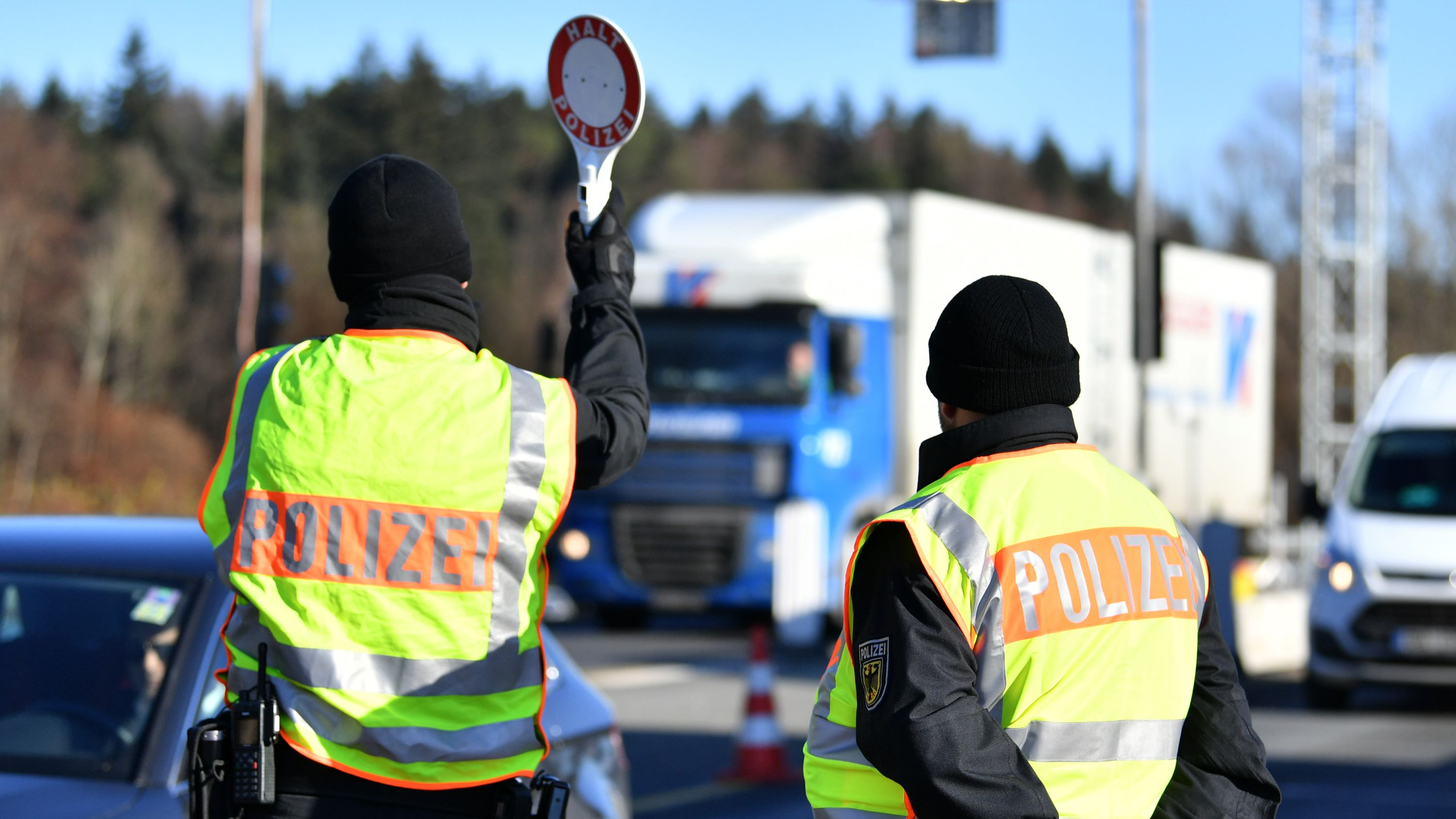 Grenzkontrollen in Piding.