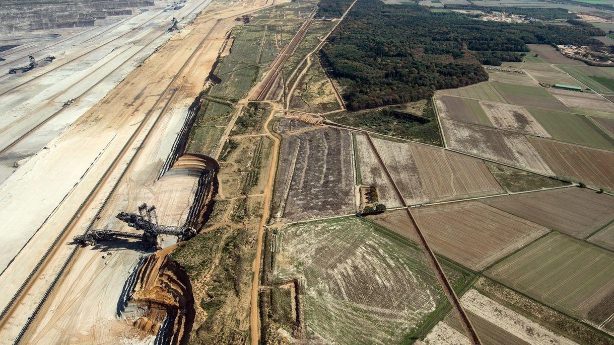 Braunkohle-Tagebau im Rheinischen Revier