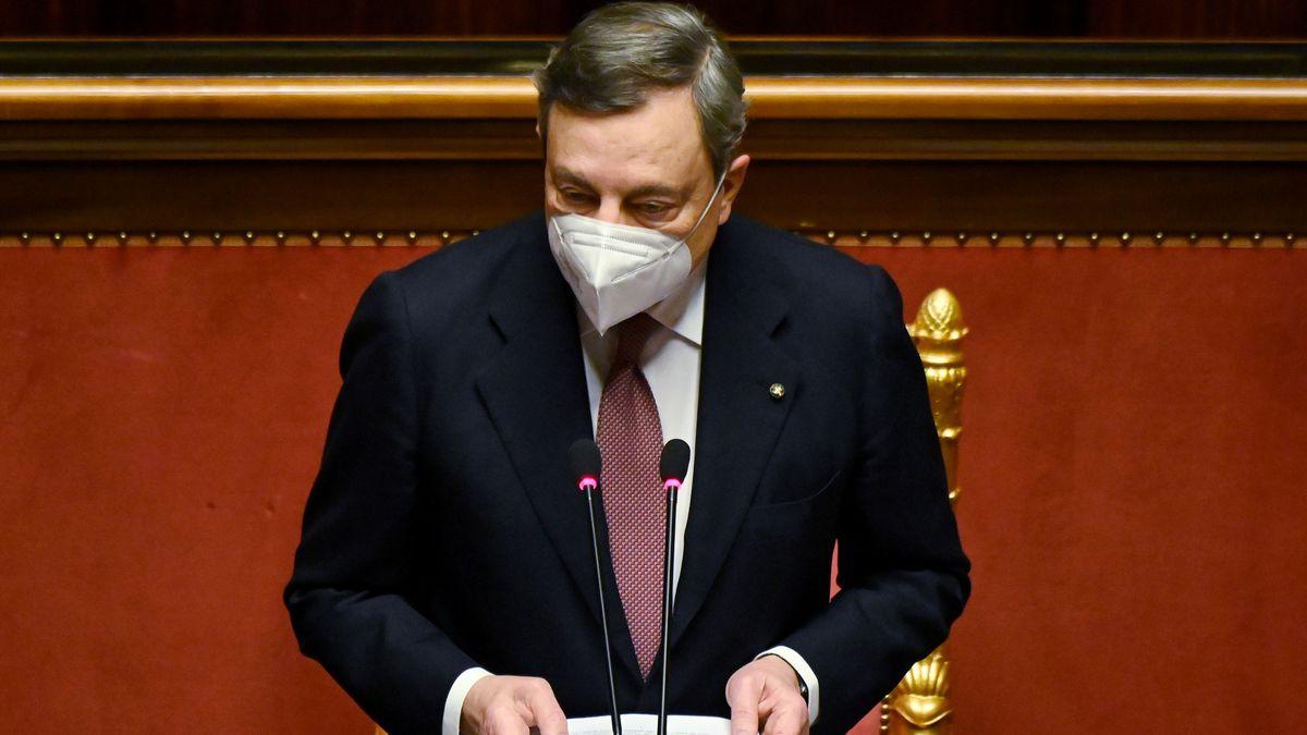 Mario Draghi im Senat in Rom