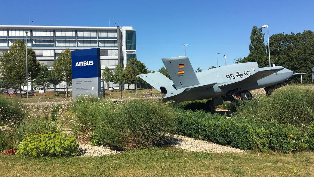 Das Airbus-Gelände in Manching