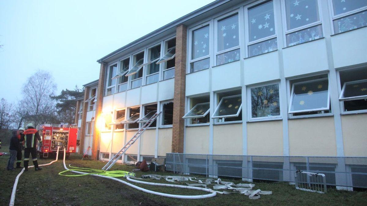 Brand in Schule in Stettfeld