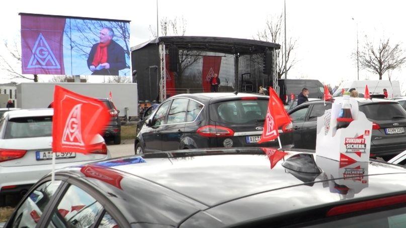 IG Metall Warnstreik in Augsburg