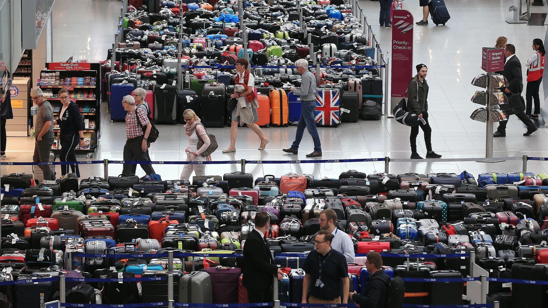 Wegen eines Defekts konnten die Koffer nicht transportiert werden.
