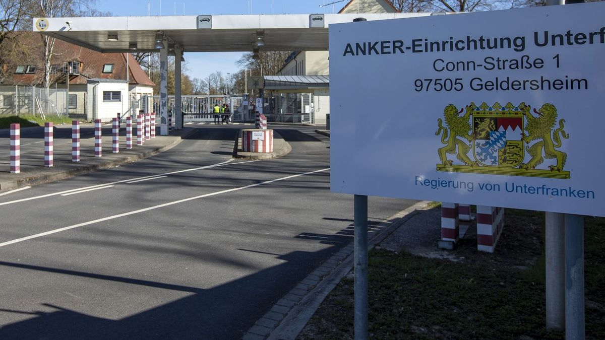 Eingang zur Flüchtlingsunterkunft