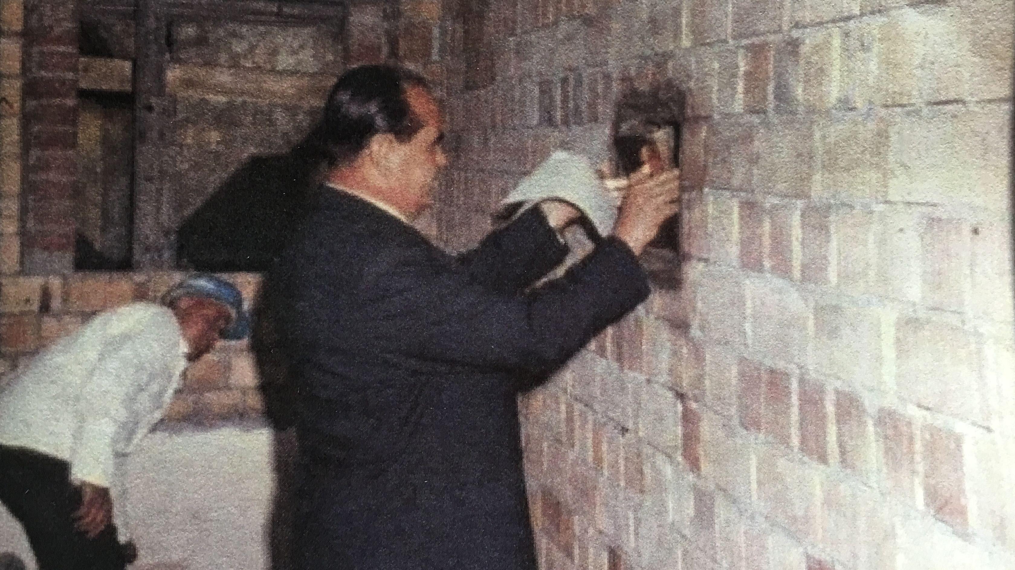 Bürgermeister Albert Schnell mauerte 1968 die Zeitkapsel ein.