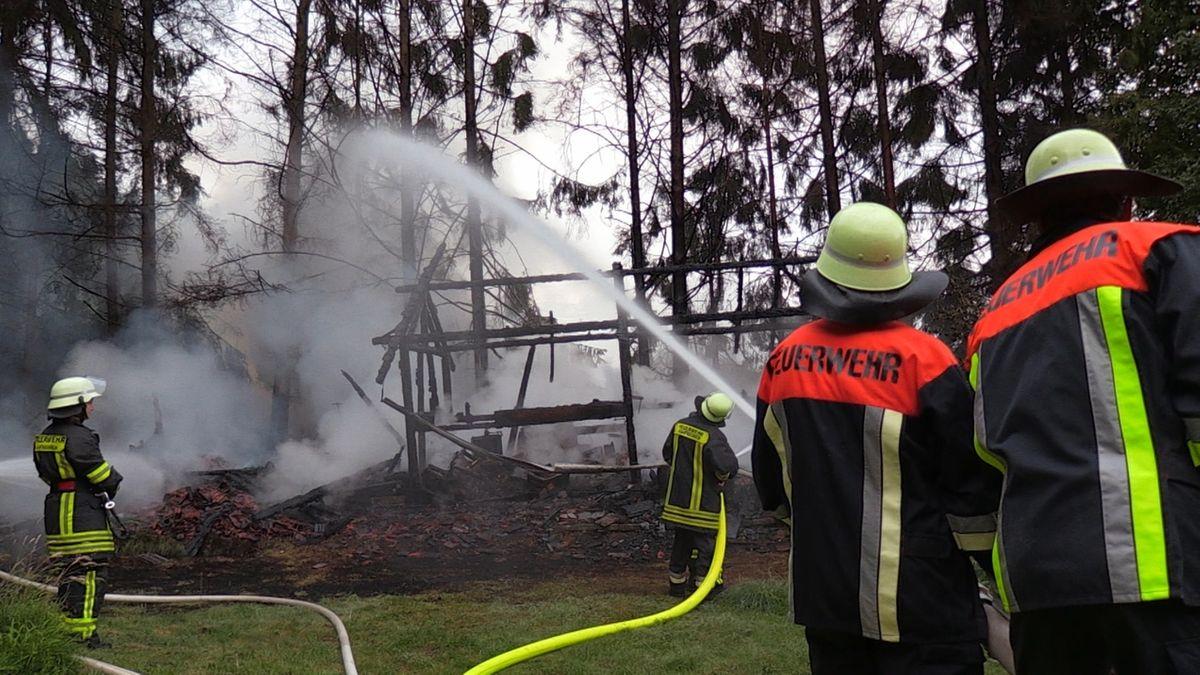 Brand eines Bienenhauses in Apfeltrang