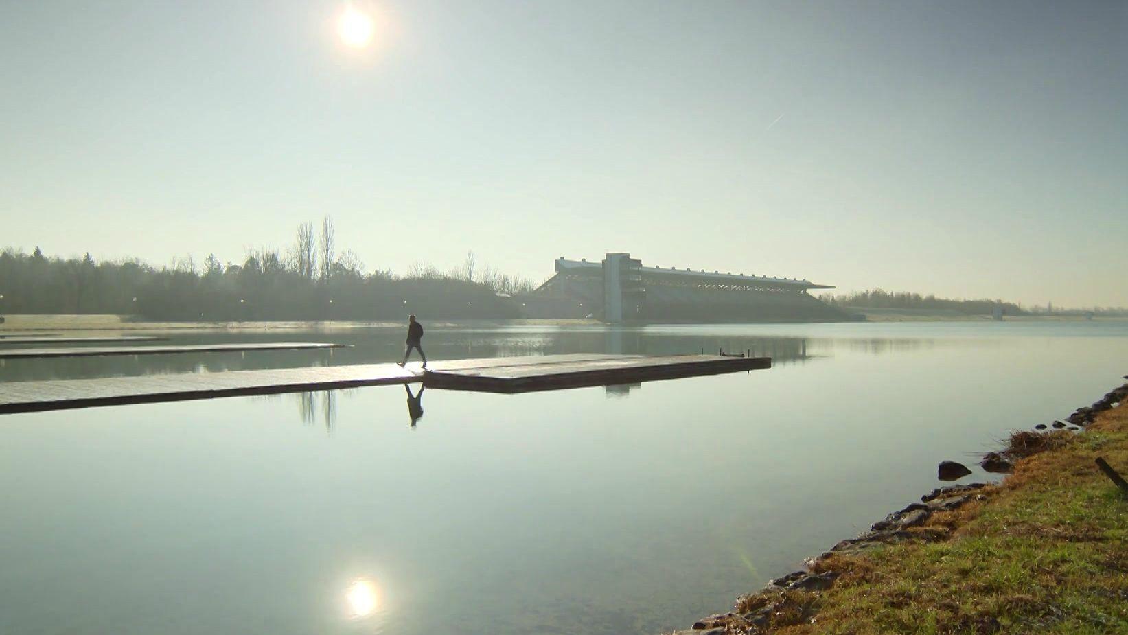 Die Olympia-Regattastrecke in Oberschleißheim