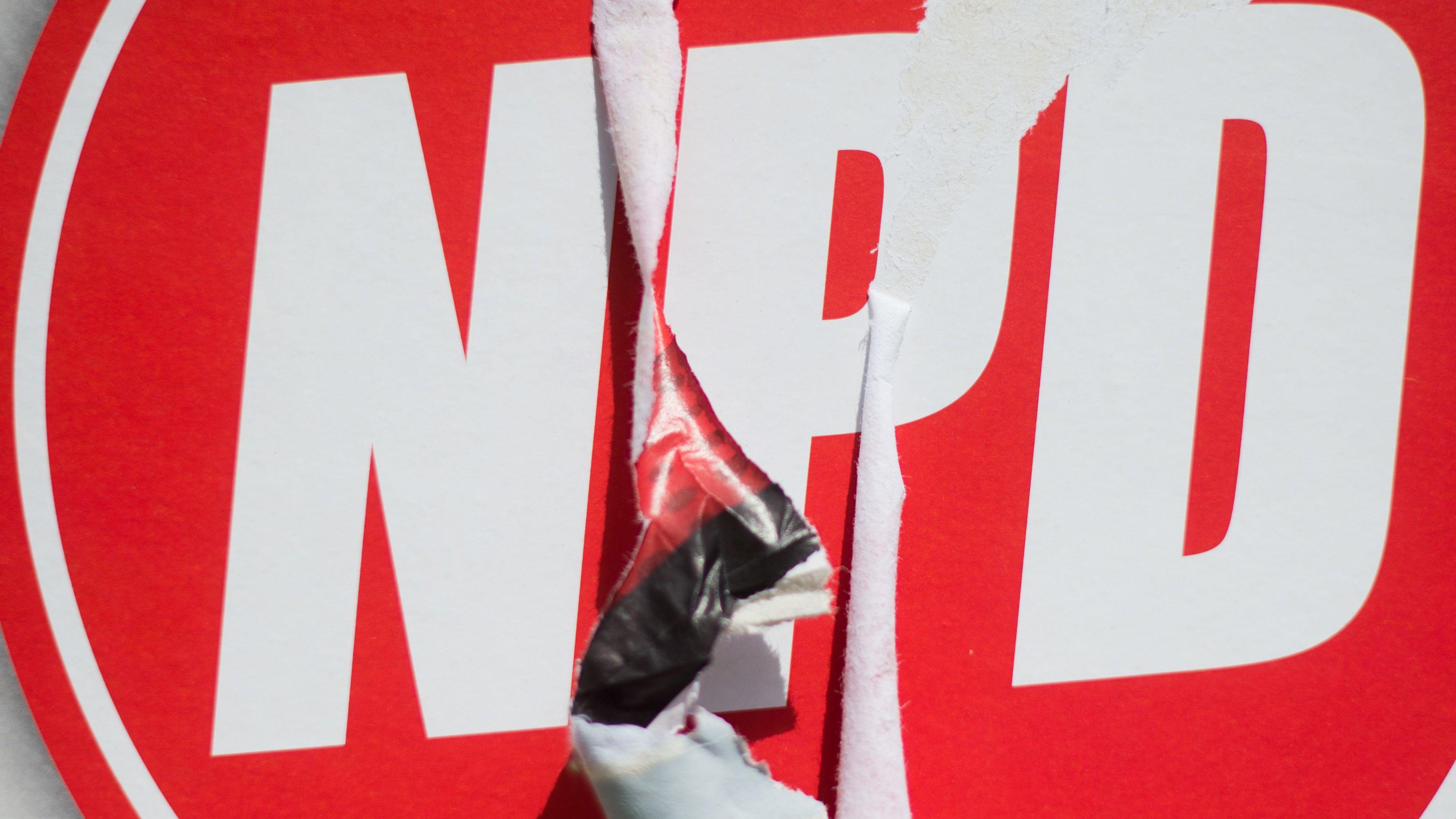 Wahlplakat der NPD