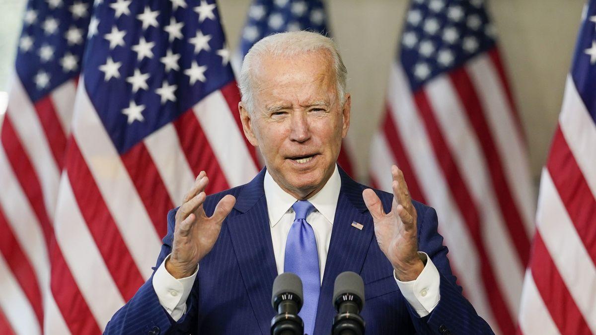 Joe Biden, Präsidentschafts-Kandidat der Demokraten, während einer Wahlkampfveranstaltung