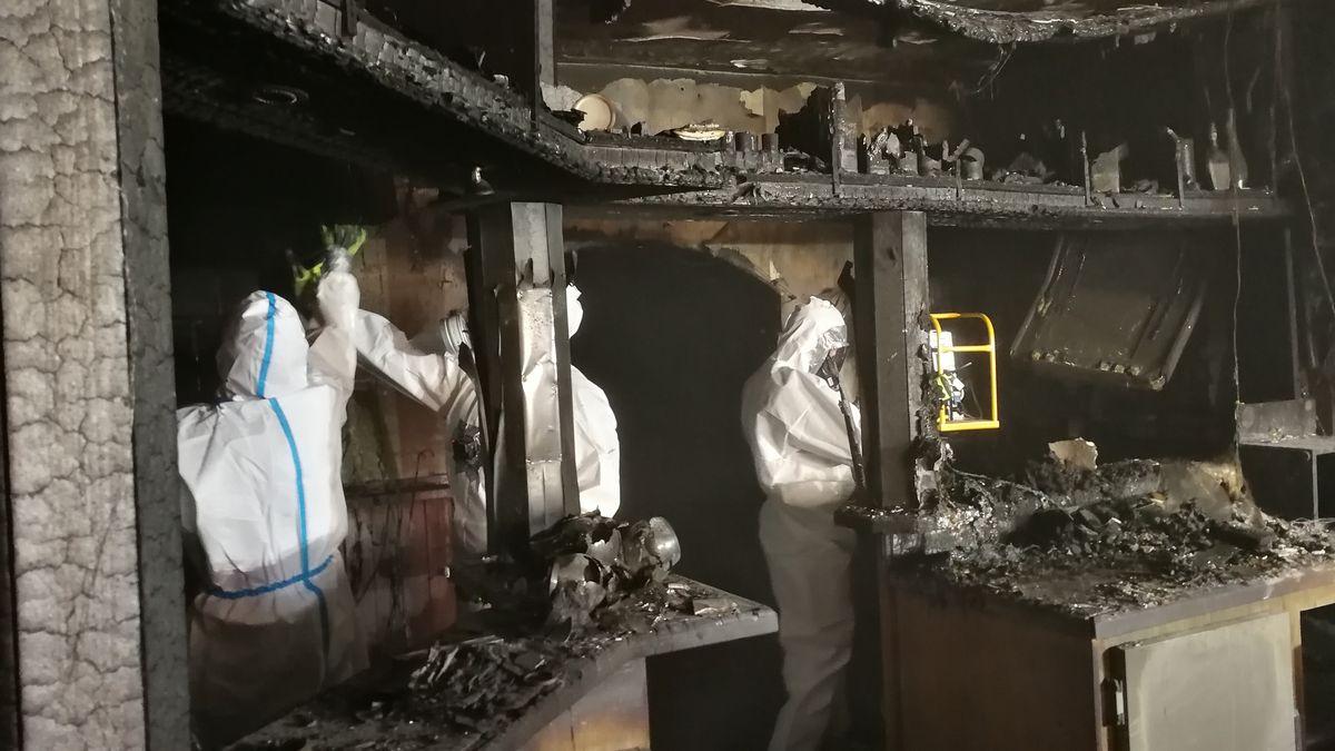 Entrümpelung der Brandruine in der Volkacher Altstadt