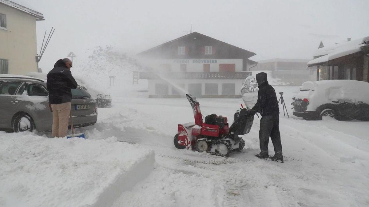 Früher Schneefall in den Dolomiten