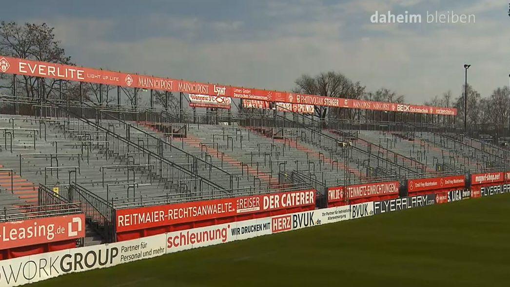 Leeres Kickers-Stadion in Würzburg