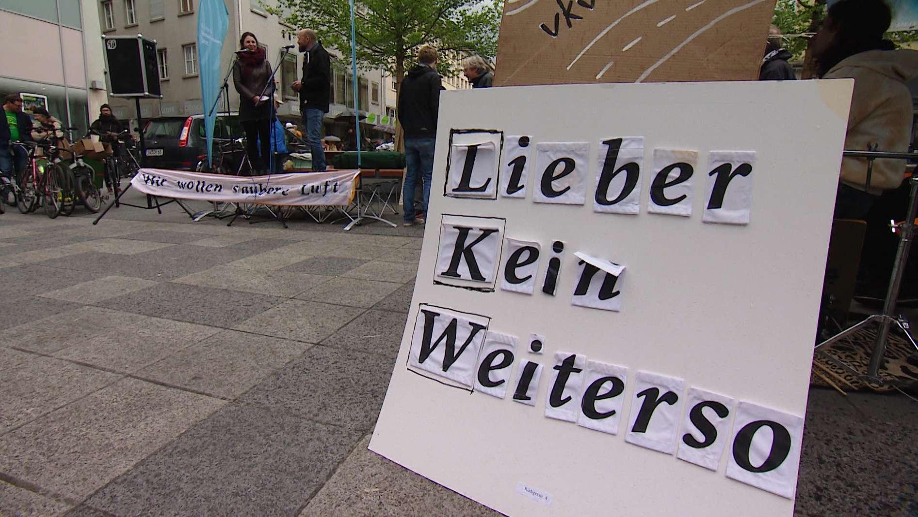 """Bündnis """"Verkehrswende jetzt"""" in Würzburg"""