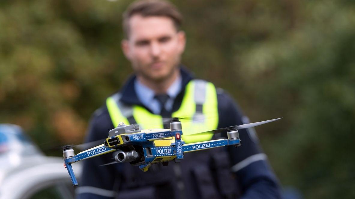 Drohnen bei der Polizei in Nordrhein-Westfalen.