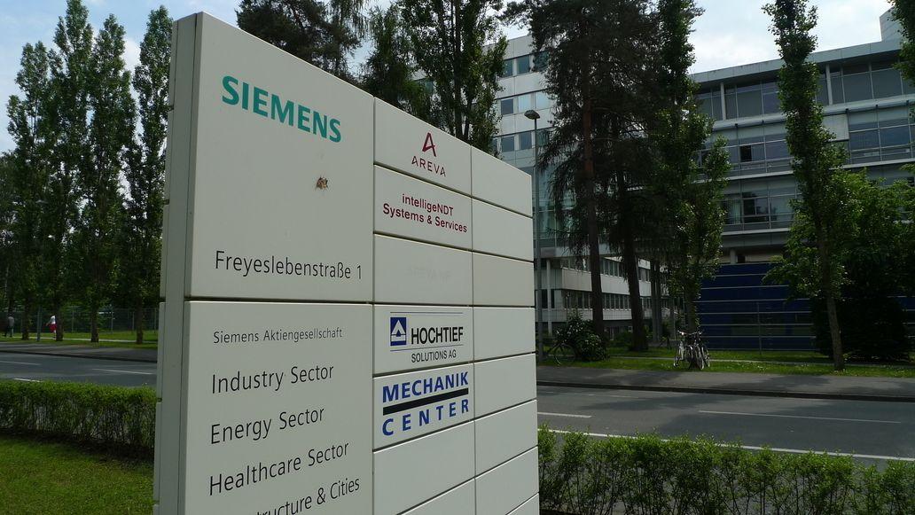 Infotafel Siemens Energy Sector in Erlangen