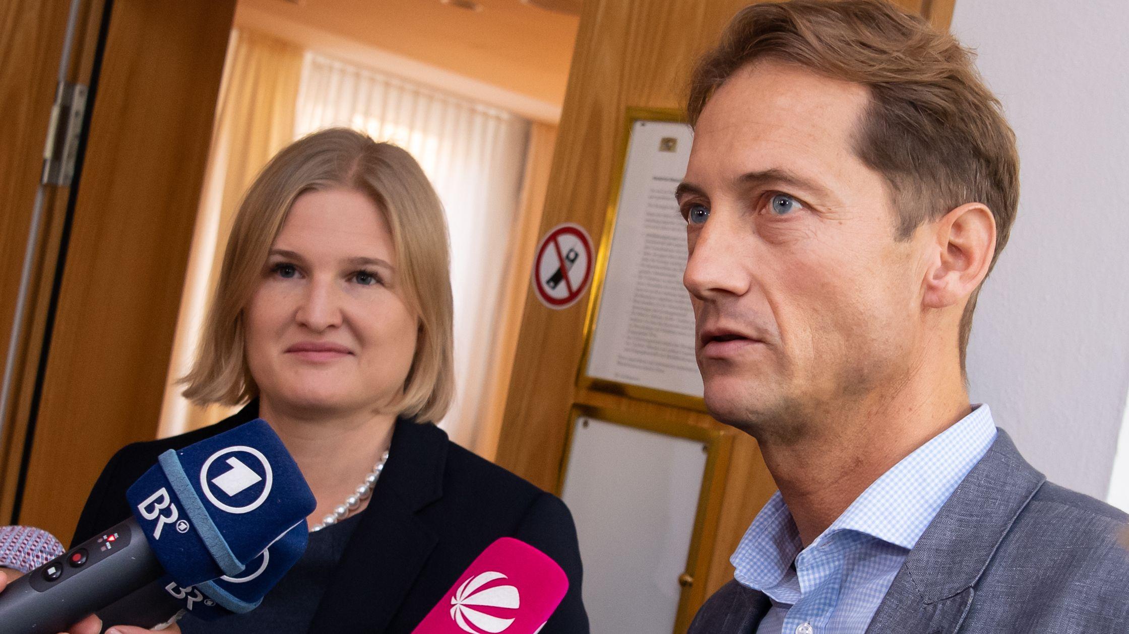 Die Fraktionsführung der AfD im Bayerischen Landtag: Katrin Ebner-Steiner und Ingo Hahn