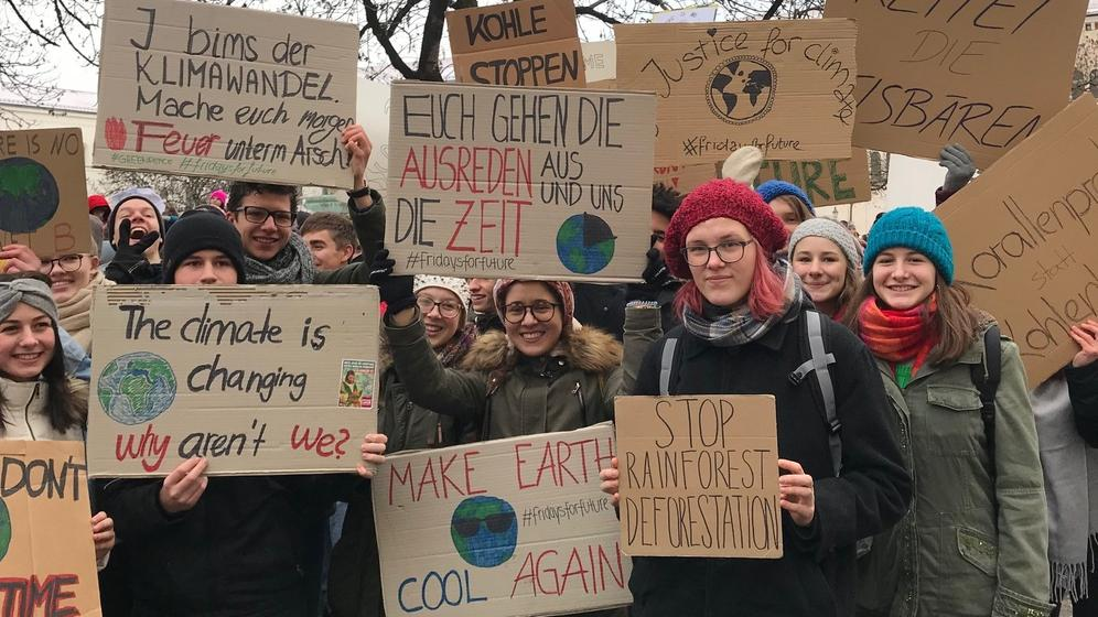 Münchner Schüler streiken für den Klimaschutz   Bild:Nora Zacharias/BR