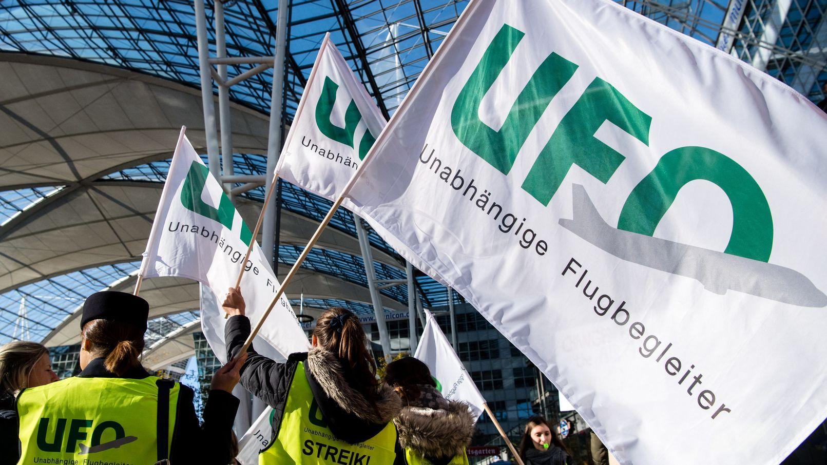 Kundgebung der Gewerkschaft UFO