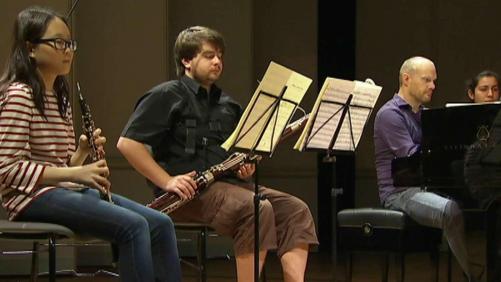Junge Musiker beim Vorspiel