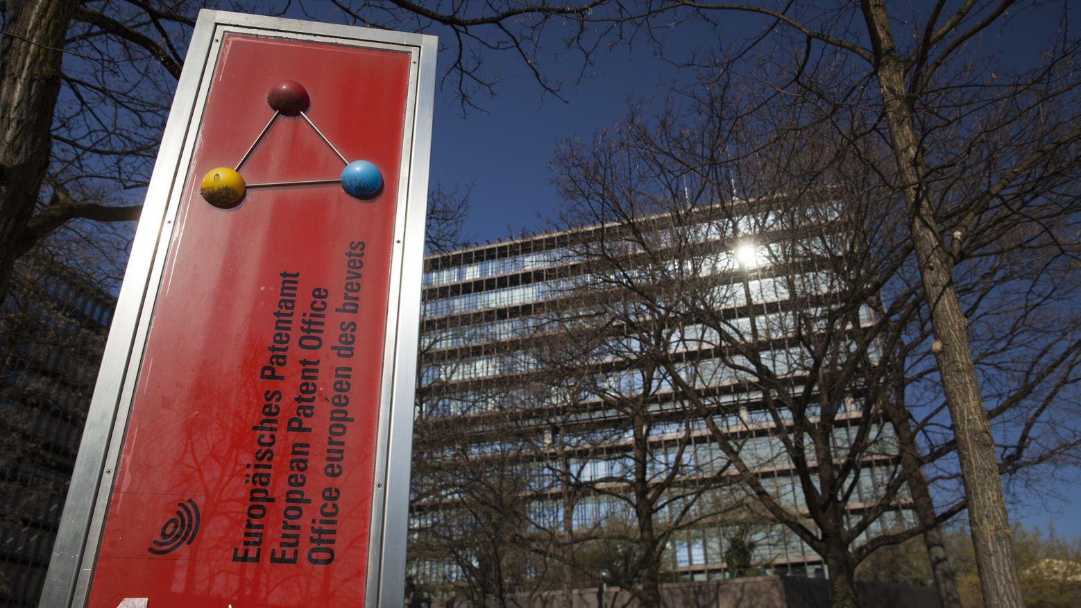 Behördenschild Europäisches Patentamt in München