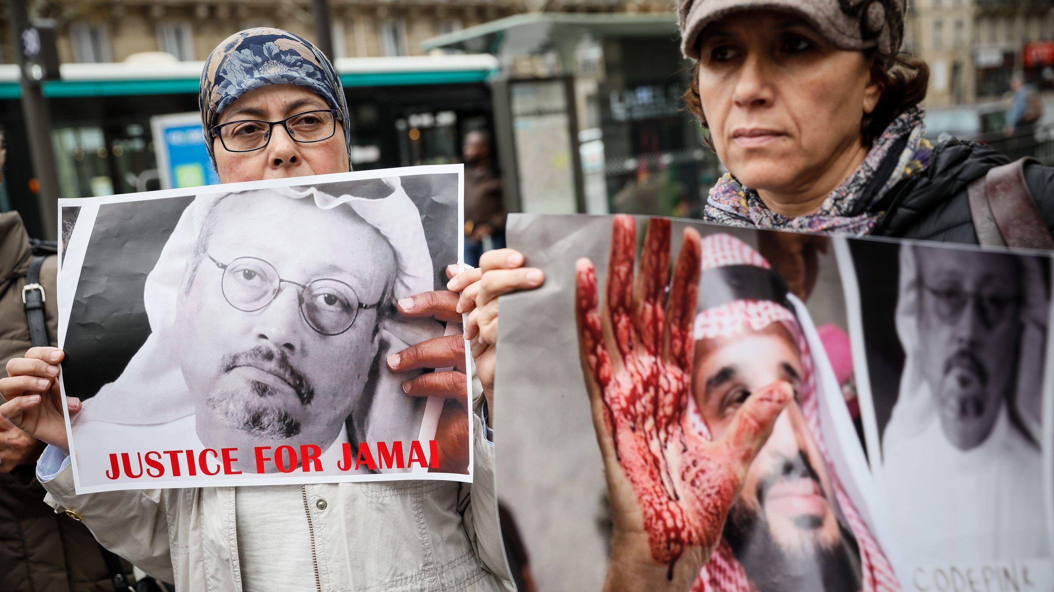 Kundgebung vor der saudischen Botschaft in Paris