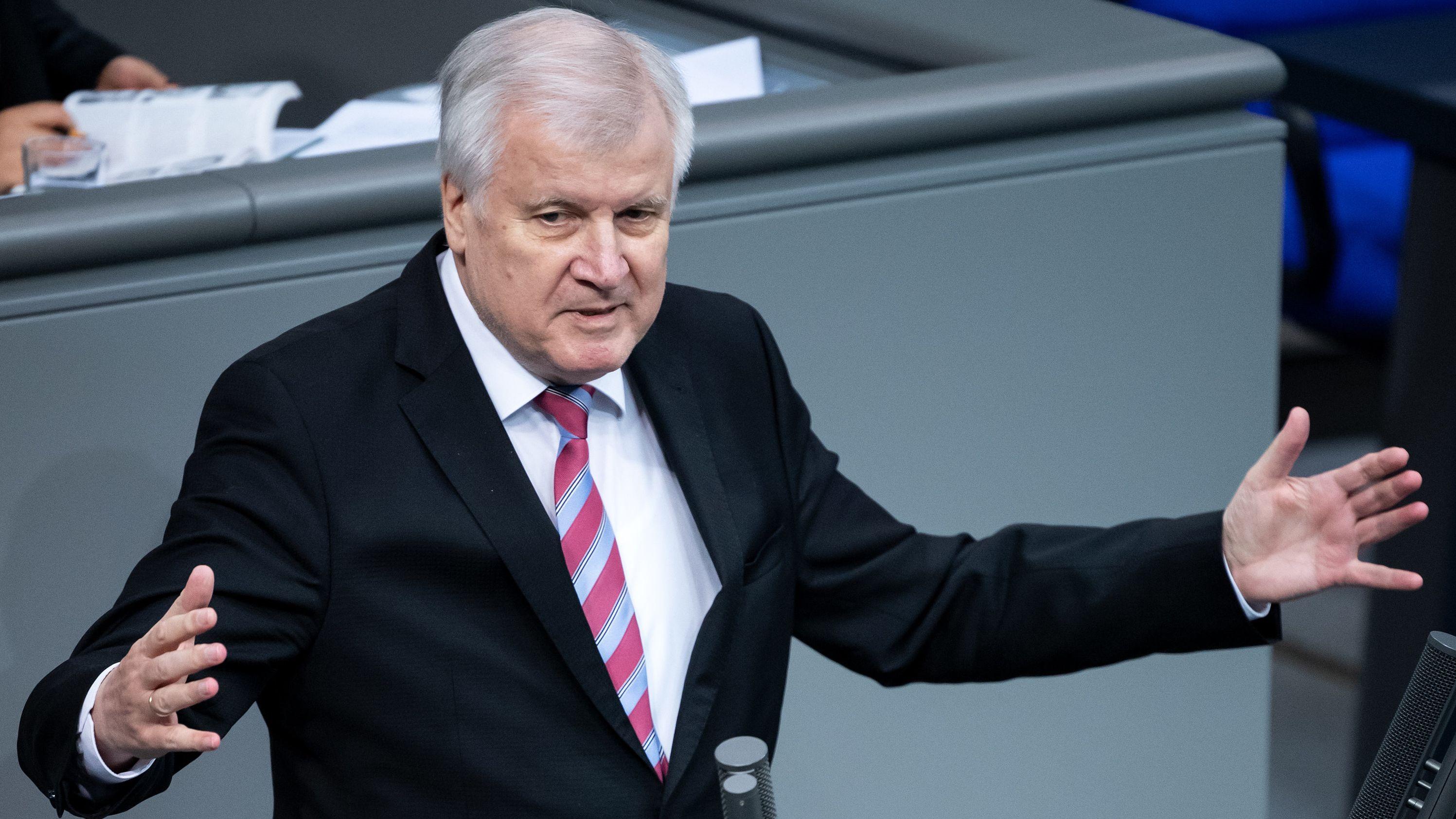 Bundesinnenminster Horst Seehofer (CSU) am 28.11.2019 im Deutschen Bundestag
