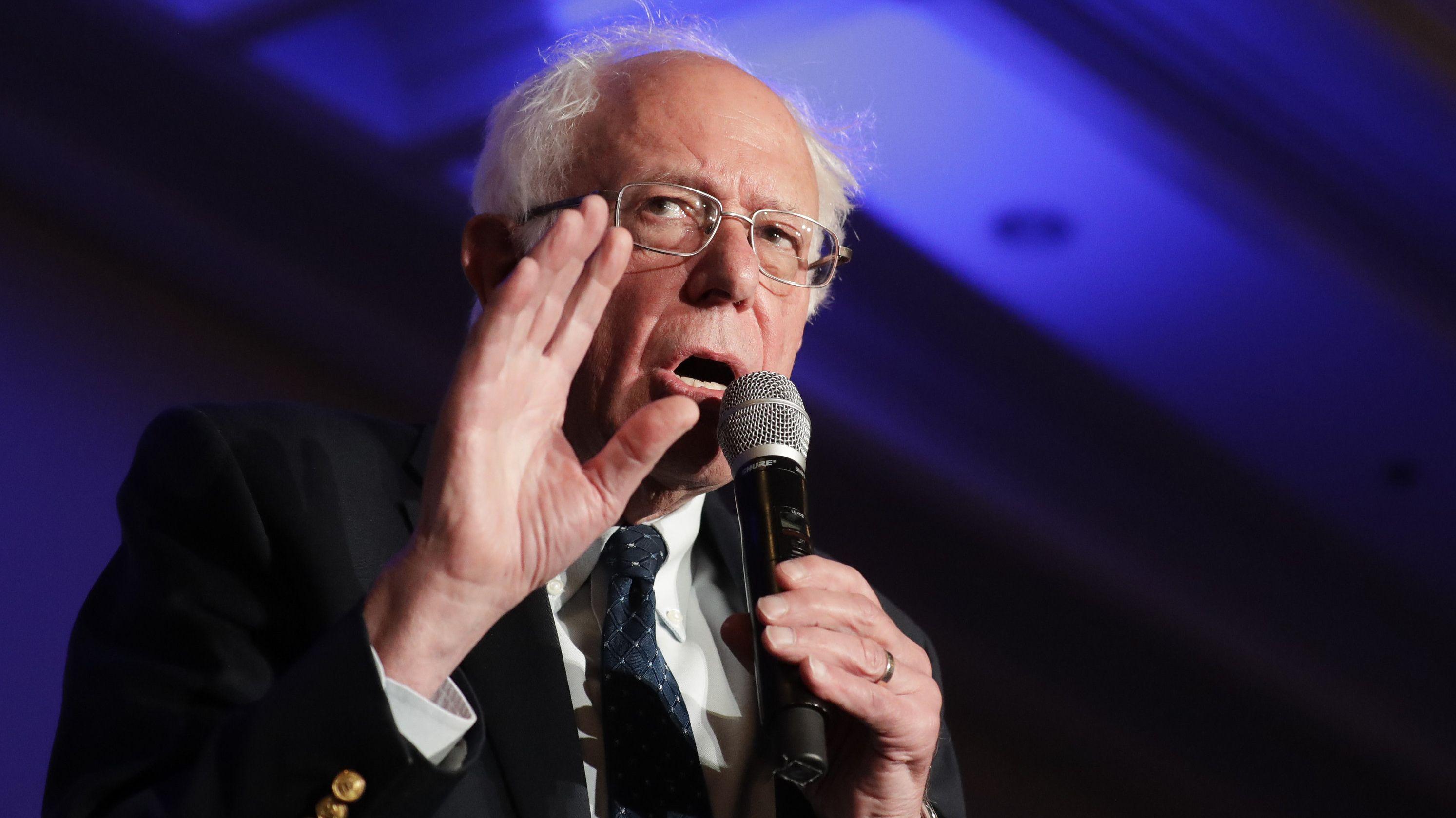 Archivbild Bernie Sanders: Der Demokrat attackierte Donald Trump nach dessen Ankündigung einer erneuten Präsidentschaftskandidatur stark