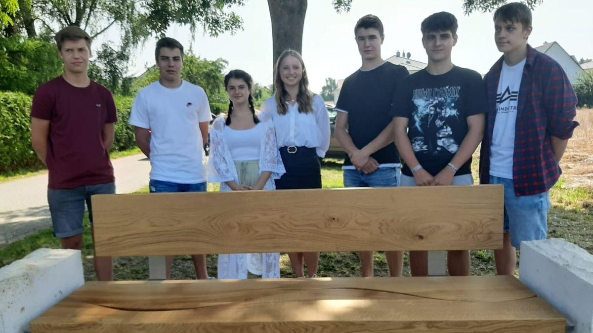 Die Schüler, die das Projekt mit der Erinnerungsbank initiiert hatten