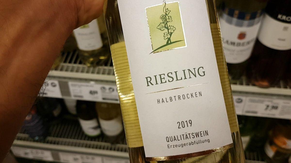 Weinflasche eines Rieslings